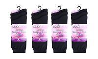 Ladies Plain Socks Womens Girls Cotton Rich EveryDay Blend Socks Adults Size 4-8