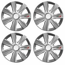 """4 x GTX Wheel Trims Hub Caps 14"""" Covers fits Suzuki Alto Wind Swift Ignis"""
