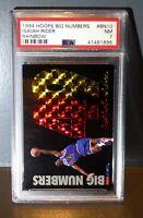 1994 Isiah Rider Hoops Big Numbers Rainbow BN10 Basketball Card, PSA 7 NEAR MINT