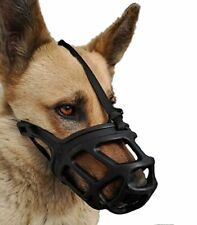 Dog Muzzle Breathable Basket Muzzles for Small Medium Large and X-Large Dogs .