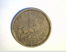 1837 Great Britian, To Hanover, High Grade Copper  Coin (UK-144)