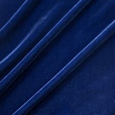 "Silk Rayon Velvet Navy 45"" wide FABRIC BTY  silky drape clothing OVERSTOCK SALE"