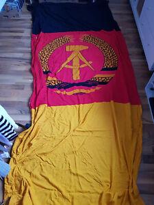 DDR Retro - Flagge: DDR-Fahne mit Kordel, ca.  340x135cm, fester Stoff