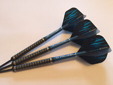 28g Spectrum Blue 90% Tungsten Darts Set,Target ProGrip Stems & Spectrum Flights