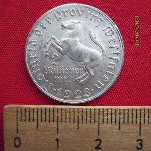 Germany - 2 Million Mark 1923 - Province Westphalia - Freiherr Von by The Stone