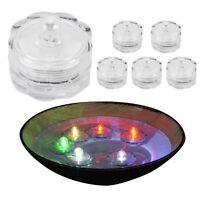 6er Set Schwimmende LED Teelichter Windlicht Kerze bunt wasserdicht Farbwechsel