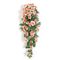 Artificial Rose Flower Floral Vine Garland + Basket Wedding Home Decor Nice