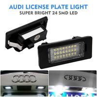 Pair LED Car License Number Plate Light For Audi A4 S4 B8 A5 S5 TT Q5 VW PASSAT
