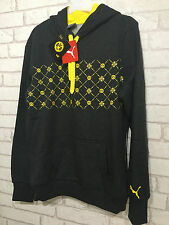PUMA BVB LINEA DONNA FAN In Pile Con Cappuccio Bnwt Taglia UK 8 HAPPY Bidding BORUSSIA DORTMUND