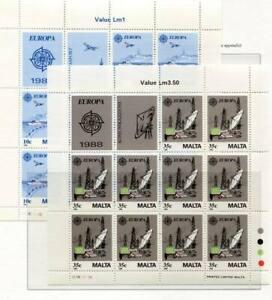 37574) Malta 1988 MNH Europa, Transport And Communication