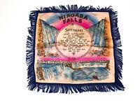 Vintage Niagara Falls Sweetheart Silk Pillow Case Cover Tabletop Throw Frills
