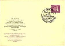 1954 BERLIN 40 Pfennig Amerika Gedenkbibliothek Sondermarke Sonderstempel Brief