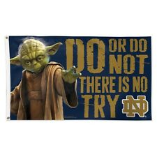 New listing Notre Dame Fighting Irish Star Wars Yoda Do Or Do Not 3'X5' Deluxe Flag New