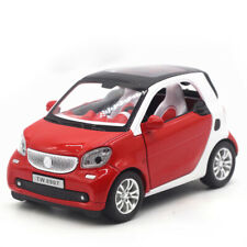 Benz Smart ForTwo 1:24 Scale Model Car Diecast Toy Vehicle Red Gift Pull Back
