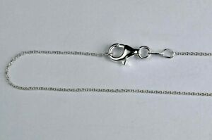 925 Sterling Silver Light cable chain Necklaces Size 18 inches