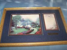 """Framed & Matted : """"Home Is Where The Heart Is"""" By Thomas Kinkade"""