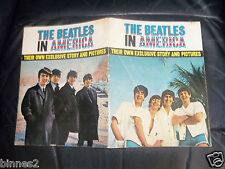 "ORIGINAL ""THE BEATLES"" IN AMERICA 32 PAGE MAGAZINE  FROM 1964  DAILY MIRROR 2/6"