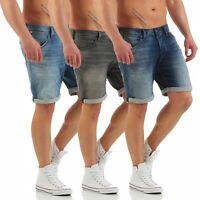 JACK & JONES - RICK DASH Indigo Shorts - Bermuda - Herren Jeans Hose - NEU