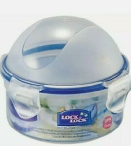 6 x Lock & Lock Food Storage Container - Round with Domed Lid- 300ml HPL932A