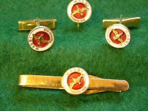 Vintage WAGBI Cuff Links, Tie Pin and Cravat Pin Badge Set, Wildfowling,Shooting
