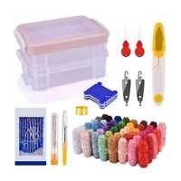 Stickerei Stift Magie Stricken Punch Nadel Nähwerkzeug Kits 48 Threads Set DIY