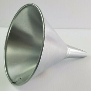 1 Qt Galvanized Steel Oil/Water/Coolant Funnel with Screen