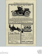 1905 PAPER AD Kirk Co Yale Toledo OH Duryea Power Reading PA Car Auto Automobile