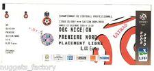 Billet / Place Olympique de Marseille - Nice vs OM - 2009 ( 099 )