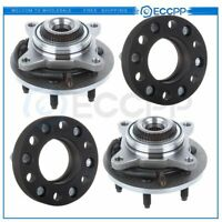 """2 Front Wheel Hub Bearing&2X 1.25"""" Thick Black Wheel Spacers Fits Ford F-150"""