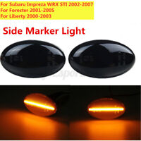 Amber LED Side Light Turn Signal Indicator Smoked For Subaru Impreza WRX Liberty