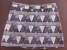 Ladies Geometric Design DOTTI Skirt Size 12 Black & White Short Mini
