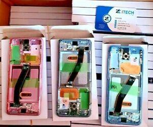 Genuine Samsung G980/G981 Galaxy S20 4G/5G LCD Screen Display GREY-PINK-BLUE-