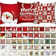 Santa Claus Pattern Square Cushion Cover Pillow Case Car Sofa Decor Christmas