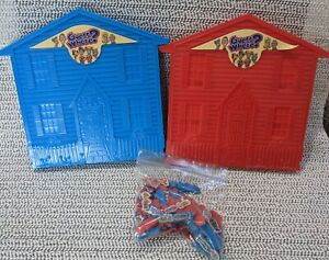 Guess Where? Game  Replacement Parts 40 Red 35 Blue Family