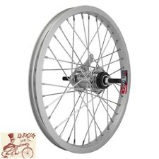 "WHEELMASTER  COASTER BRAKE 16"" x 1.75""  SILVER ALLOY BICYCLE REAR WHEEL"