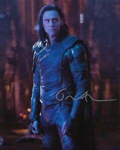 "TOM HIDDLESTON ""Loki"" Autographed 8 x 10 Signed Photo COA"