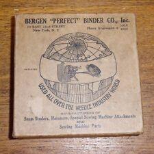 Old Empty Bergen Perfect Binder Co. Sewing Machine Seam Binder Parts Box