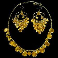 Bollywood Danse Orientale Belly Dance Bijoux Collier Chaîne Boucles D'Oreilles