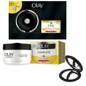 Olay Complete Day Moisturiser 24hr Hydration SPF15 Vitamin B3 E B5 + Mirror Set