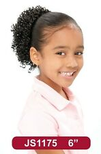 """8"""" Synthetic Hair Clip on Drawstring Ponytail Hairpiece -Kids DS #175"""