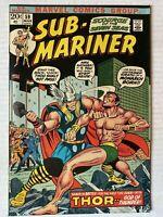 Sub-Mariner #59, VF- 7.5, Namor vs. Thor!
