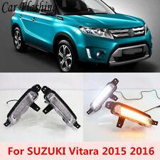 2x DRL LED Daytime Running Light Driving Fog Lamp for Suzuki Vitara 2015-2017