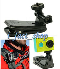 For Xiaomi Yi Sport Camera Holder 360° Rotary Backpack Strap Clip Clamp Mount IF