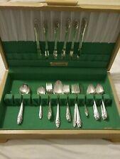 Oneida Community Silverplate Evening Star 51pc set box silverware vintage 1950