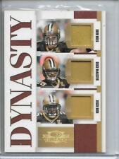 2007 Threads Dynasty Materials Prime Drew Brees McAllister Reggie Bush 1/25 1/1