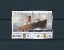 [81227] Tuvalu 2011 Ships Boats Albania Ocean Liners Cunard Line Pair MNH