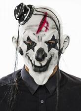 weiße Horrormaske Clown mit Zylinder Maske Halloween Horror Grusel