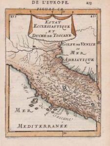 1685 Mallet Map of Tuscany, Italy