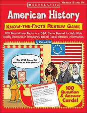 American History: Know-the-Facts Review Game: 100 Must-Know Facts in a Q&A Game