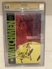 9.8 CGC SS SIGNATURE SERIES WATCHMEN #1 SIGNED BY DAVE GIBBONS + JOHN HIGGINS